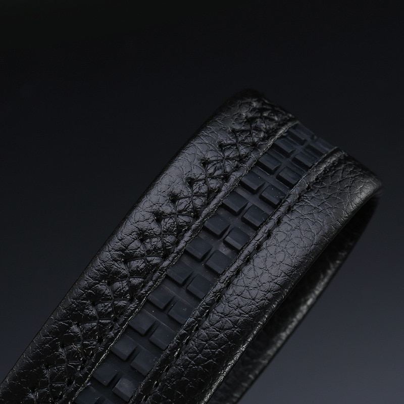 Peikong Luxury Brand Automatic Buckle Designer Mens Boys Belts High Quality Leather Male Fashion Black Vintage Belt For Men