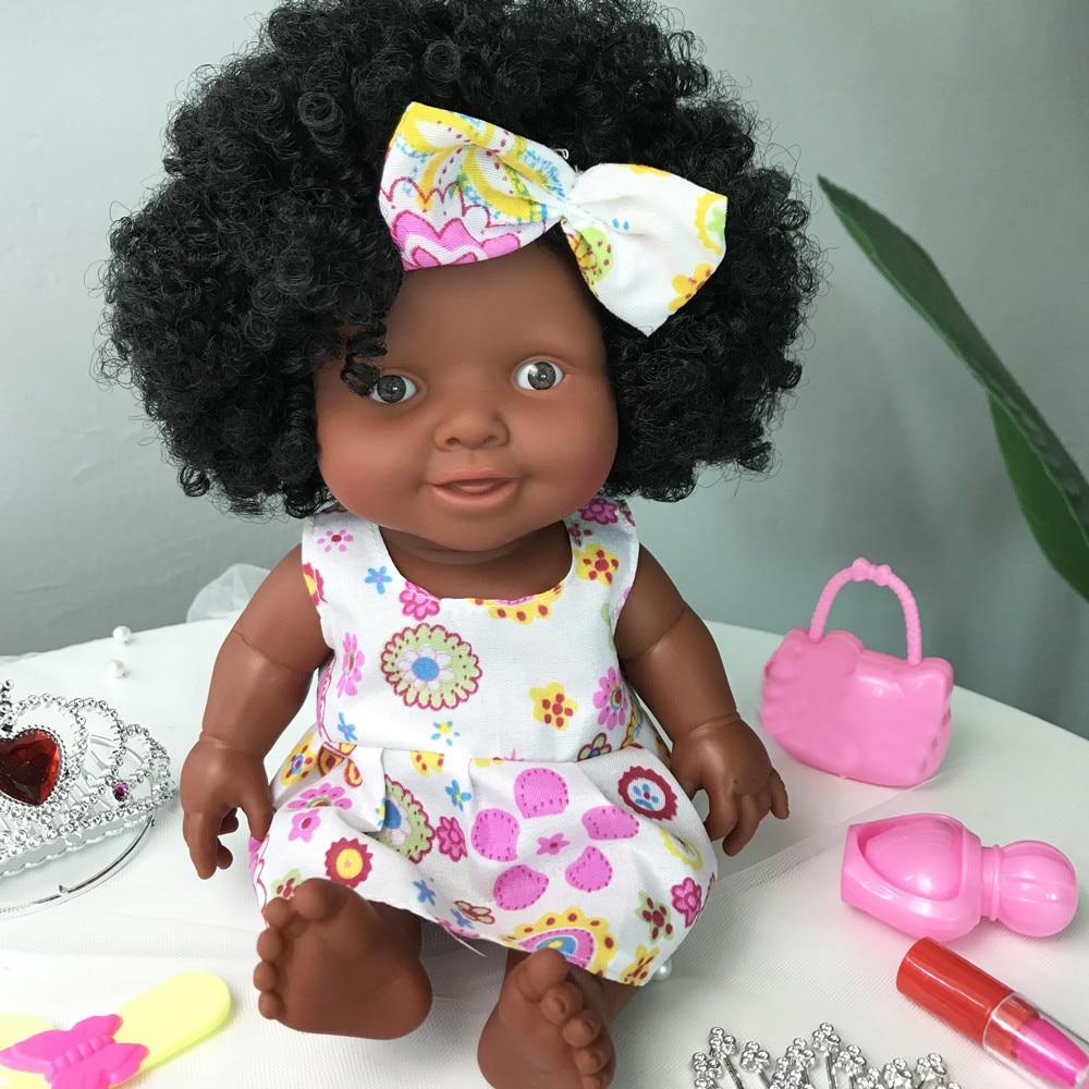 Африканская кукла подвижная шарнирная игрушка Рождественский лучший подарок для маленьких девочек Черная игрушка мини Милая Взрывная прическа кукла для девочек