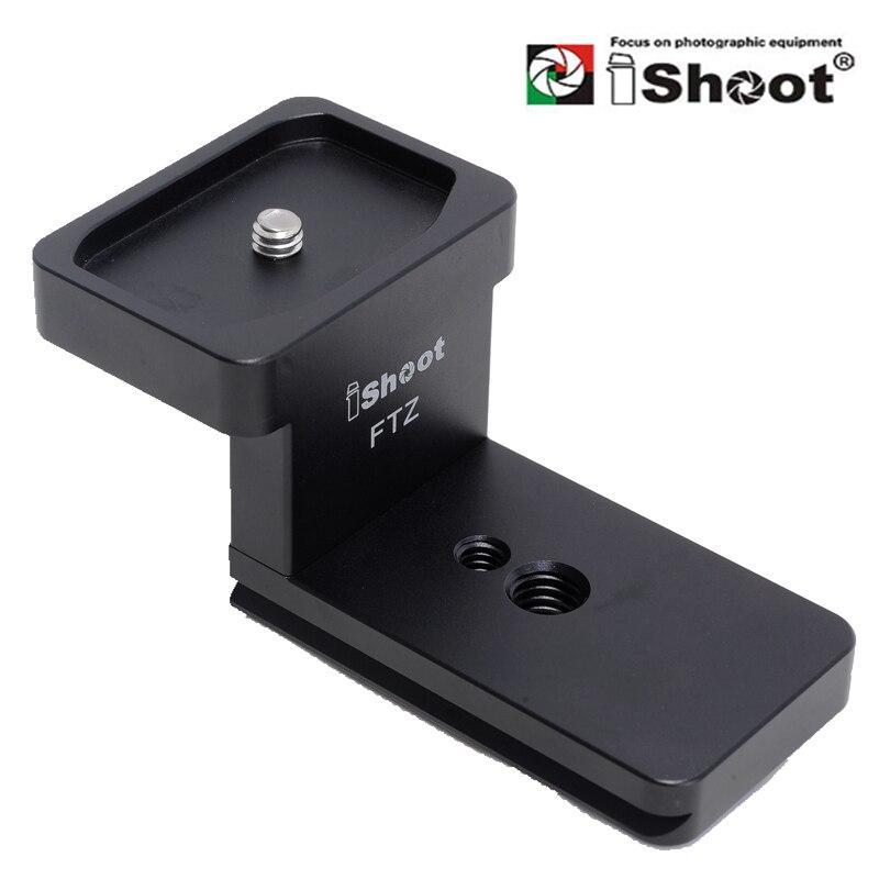 IShoot IS-FTZ Collar de lente para Nikon FTZ adaptador de montaje anillo de montaje de trípode reemplazo de lente de pie soporte Arca swiss pivotail