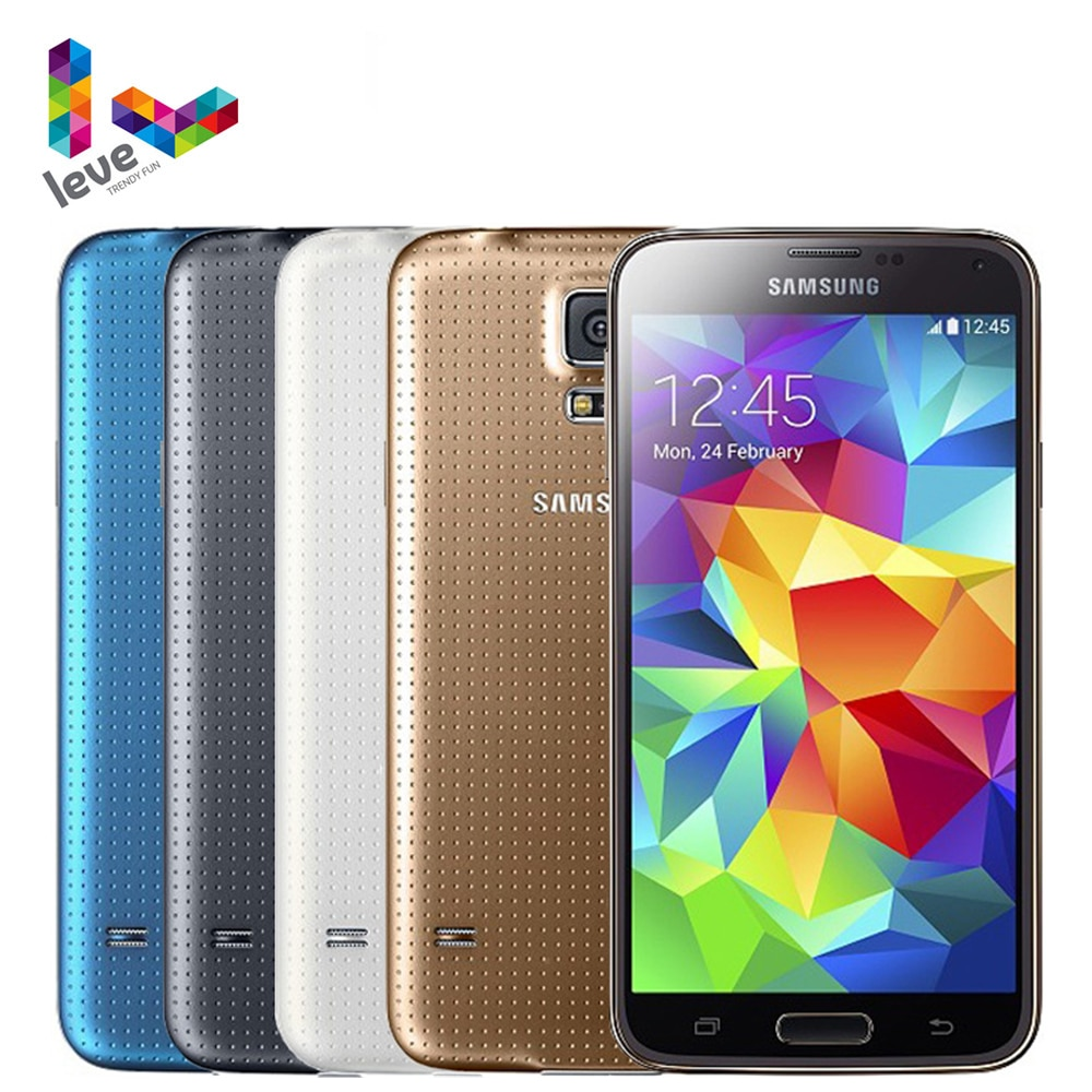Samsung Galaxy S5 I9600 G900F G900A desbloqueado teléfono móvil 5,1