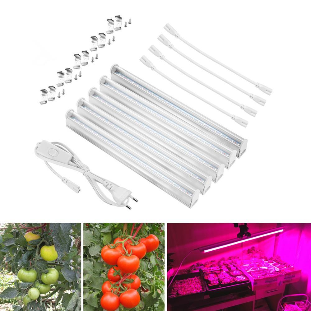 LED phyto lamp Full Spectrum Plant Grow light T5 LED Tube Bulb Grow lamp 110V 220V For indoor grow tent vegetables flower lamp