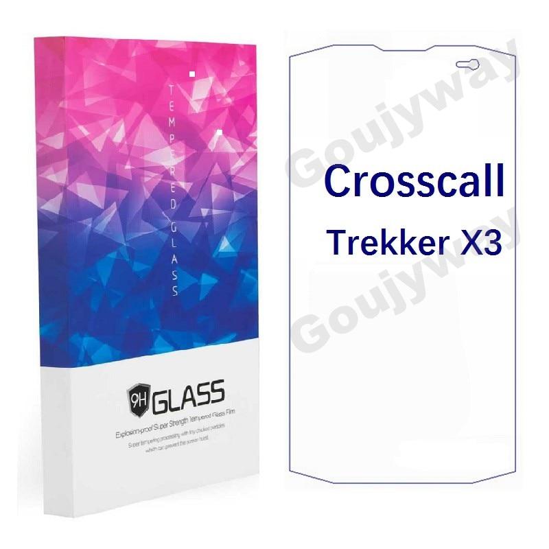 Protector de pantalla de vidrio templado para Crosscall TREKKER X3 Anti-scratch HD vidrio a prueba de explosiones Crosscall TREKKER X3 vidrio frontal