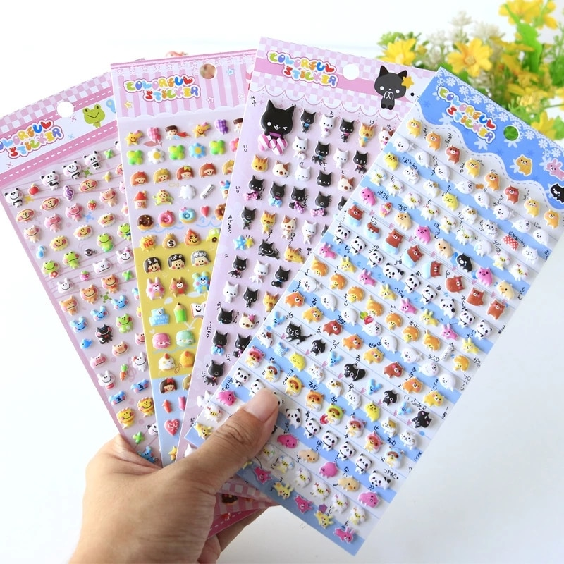 Kawaii Lovely Small Animal Foam 3D Decorative Stationery Stickers Scrapbooking DIY Diary Album Stick Label flamingo mark name stickers decorative stationery craft stickers scrapbooking diy stick label