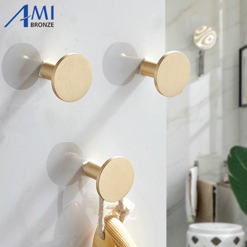 Gancho de bronze escovado robe ganchos roupas gancho do banheiro acessórios de bronze cabide porta gancho gaveta alça