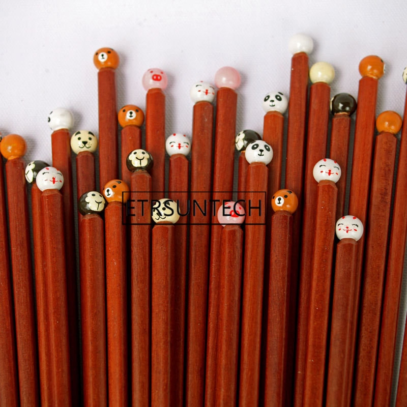 100 pares reutilizable japonés hecho a mano de madera Natural palitos para Sushi comida cerdo Panda de madera palillos