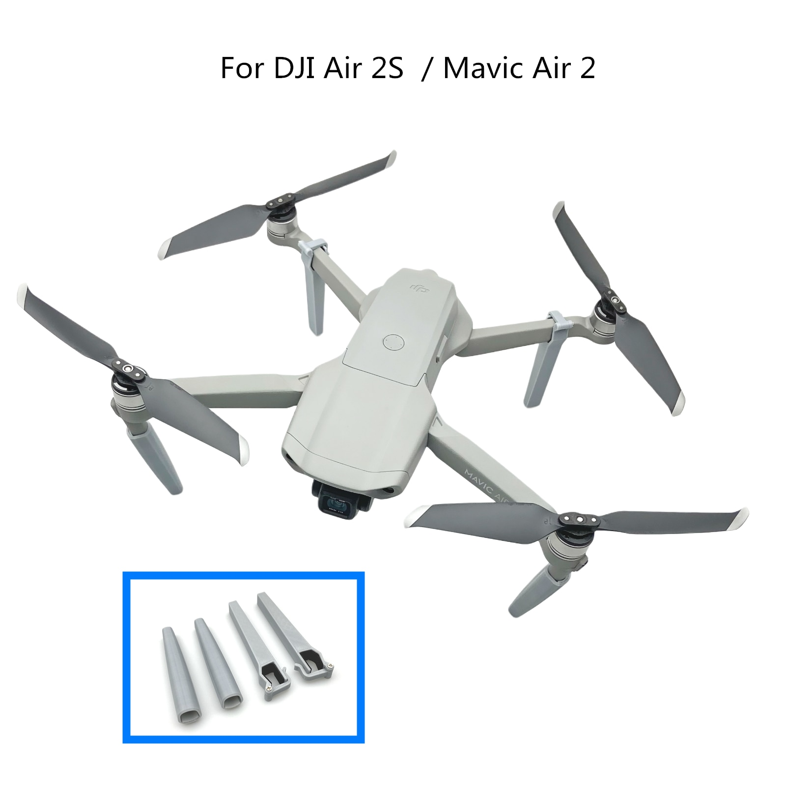 Landing Gears Heightened Extension Support Landing Legs Bracket For DJI Air 2S  / Mavic Air 2  Drone