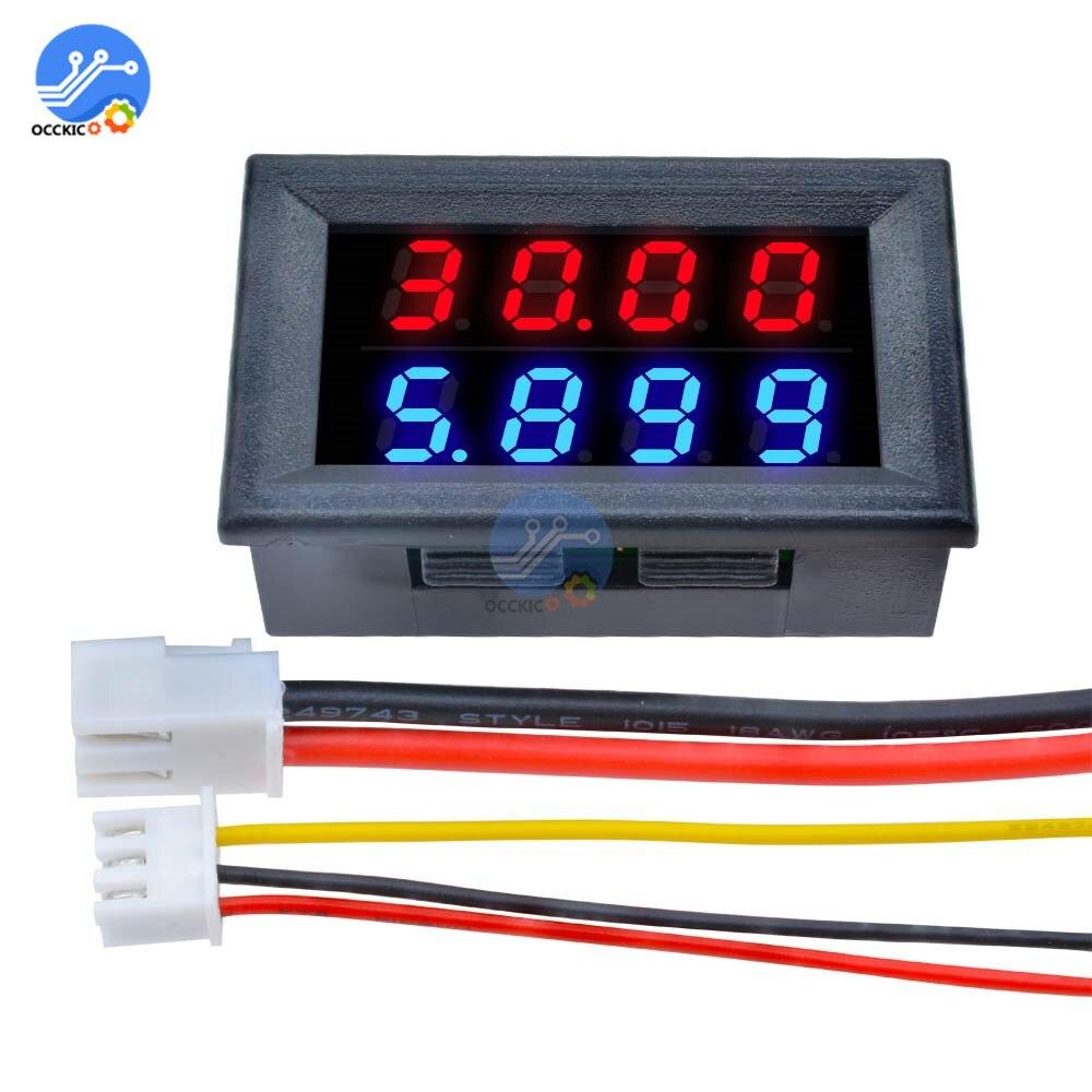 Mini voltímetro Digital amperímetro de alta precisión 0 ~ 100V 10A instrumento de medición 4 bits medidor de corriente de voltaje pantalla led precisa