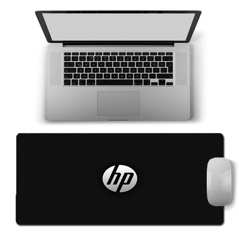 Роскошный классный коврик для мыши с логотипом HP, игровые коврики для клавиатуры, ПК, компьютерный коврик для мыши, водонепроницаемый Насто...