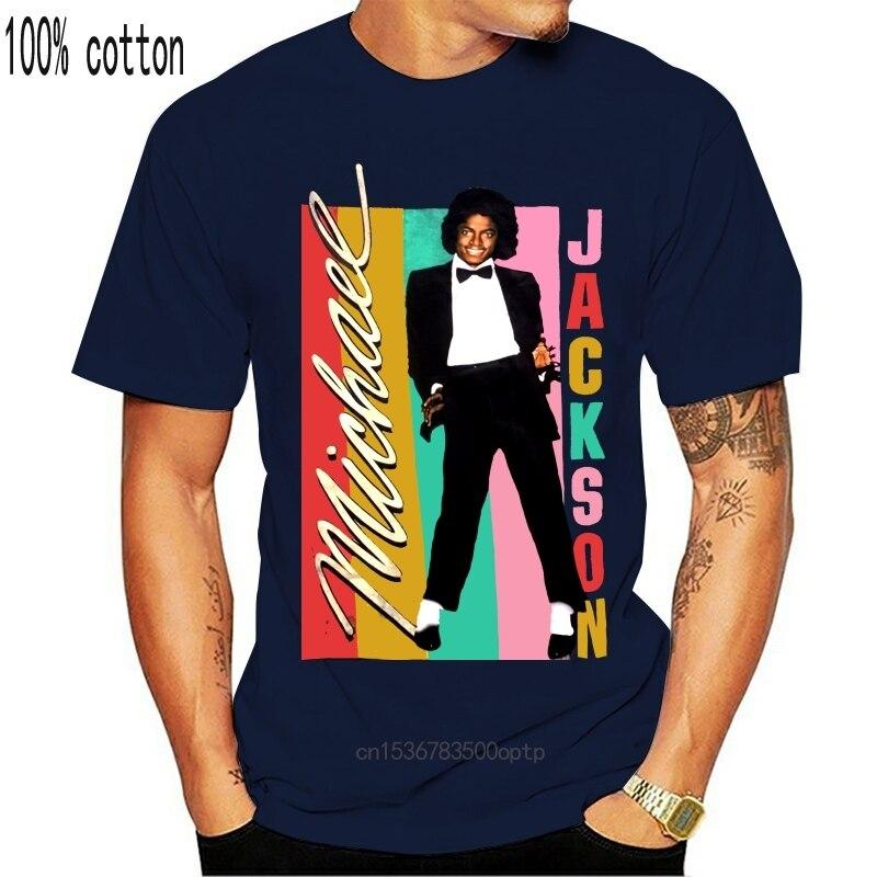 New Michael Jackson WomenS Colour Stripes T-Shirt Latest 2021 Style Tee Shirt