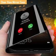 Auroras For Samsung Galaxy A03S Case Stand Holder Flip Mirror View Case For Samsung M32 4G Shockproo