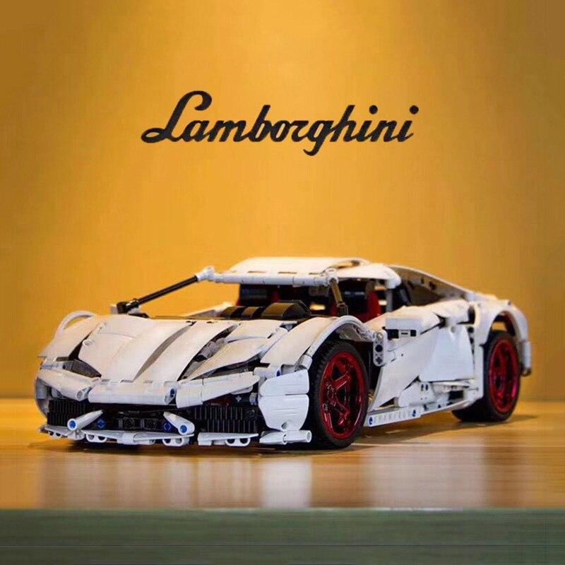 1696Pcs Doublee Bausteine Cada Technik C61018 Super Racing Auto Lamborghiniii Huracan LP 610 Kinder Spielzeug Ziegel
