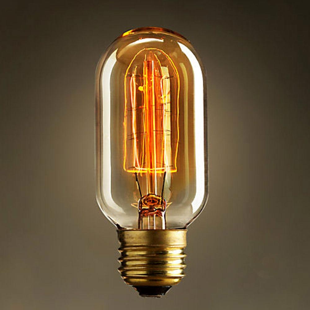 Лампы накаливания Эдисона 45 мм x 110 мм 40 Вт, лампы накаливания, светильник тажные ретро старинные промышленные лампы, вольфрам E27 E26 D4