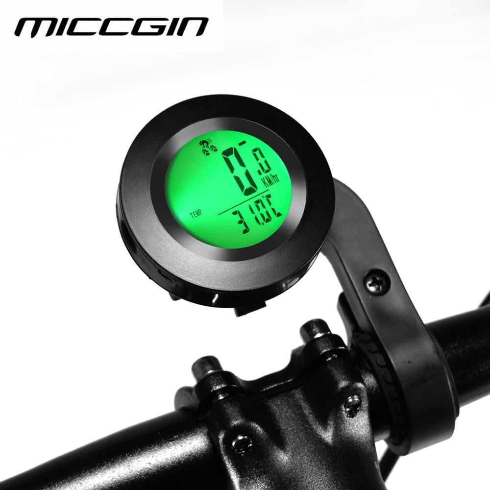 Беспроводной Велосипедный компьютер MICCGIN, спидометр, водонепроницаемый, светящийся Английский Компьютер для велоспорта, одометр, автомати...