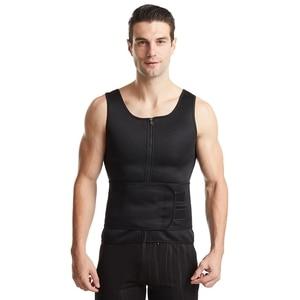 Мужской тренировочный костюм, черный корсет большого размера, корсет для фитнеса, нижнее белье для живота, пряжка, формирование тела, черная Талия