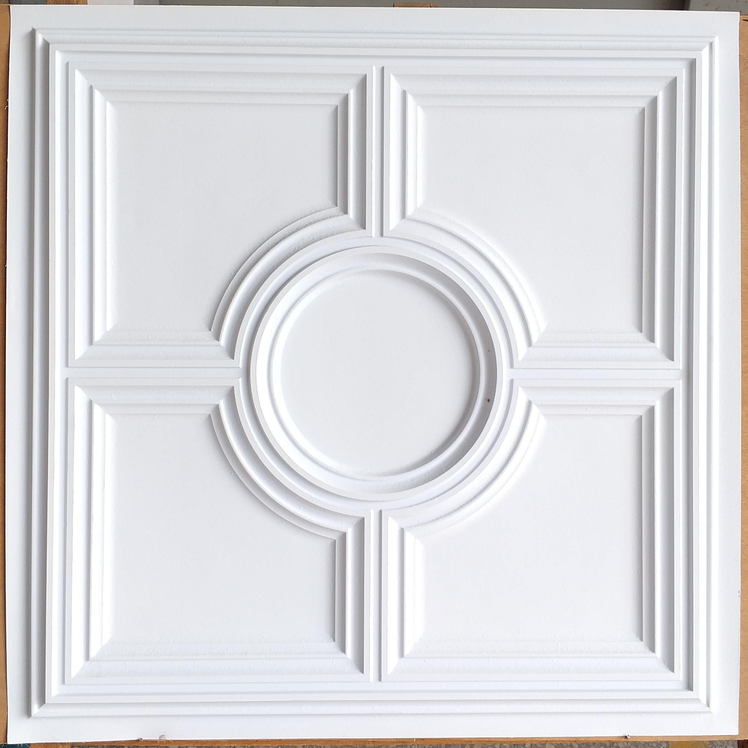 Suspended Ceiling tiles faux white matt cafe pub restaurant well ceiling panels PL37