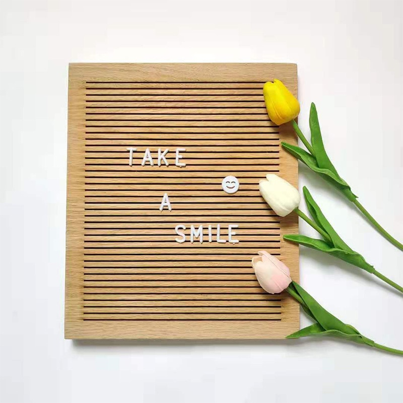 Natural Wood Letter Board Frame Changeable Message Memo DIY Board Stand Baby Bedroom Living Room Home Decorations Photo Props