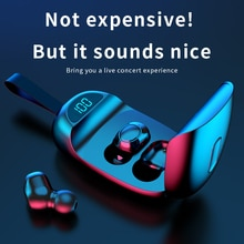 TWS Bluetooth Earphones with Microphone Touch Control Wireless Headphones HIFI Mini In-Ear Earbuds S