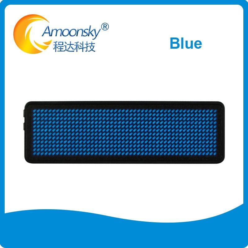Etiqueta led recargable programable, Insignia con nombre led azul, verde y rojo...