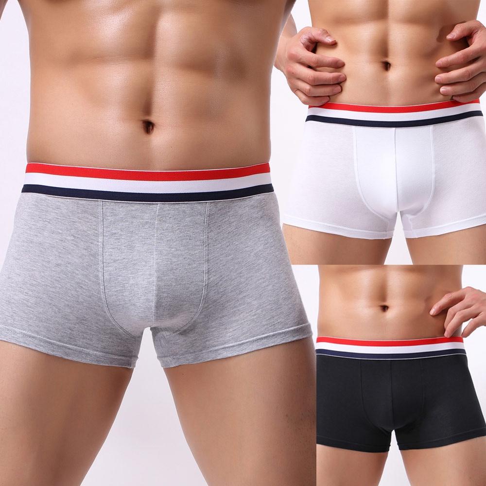 Мужские трусы, модные сексуальные мужские боксеры, однотонные хлопковые дышащие мужские эластичные трусы, мужское нижнее белье, бриджи # YL5