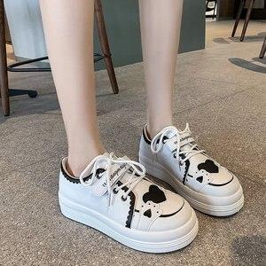 Lolita Shoes Casual Women Sneakers Slip On Running Shoes Student PU Tenis Shoes Cute Girl Fashion Sneakeres zapatos de mujer