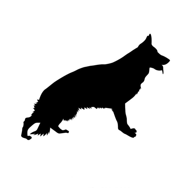 Автомобильная наклейка, немецкая овчарка, забавная Автомобильная наклейка для стайлинга, Обложка с царапинами, персональные животные из ПВ...