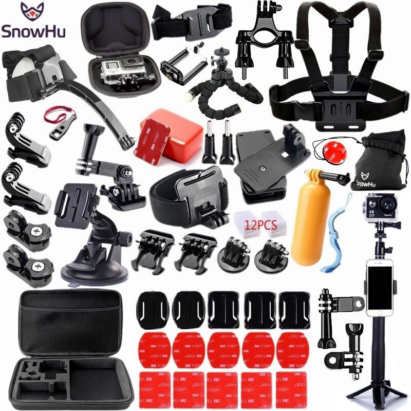 SnowHu-ملحق كاميرا الحركة لـ GoPro Hero 9 8 7 6 5 BlackYi 4K Lite 2 SJCAM Eken H9 Go Pro ، مجموعة ملحقات GS98