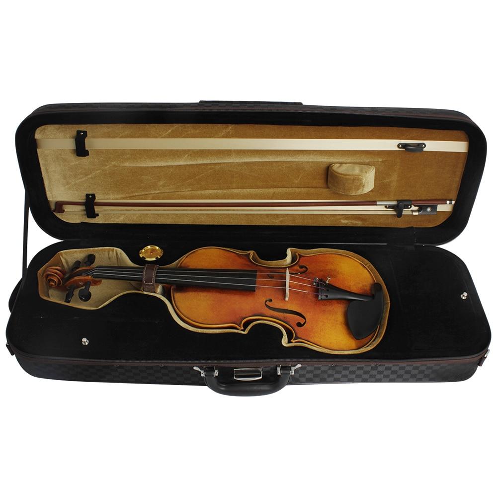 High-End 4/4 Violin Storage Case Box Gig Bag Violin Fiddle Accessories Adjustable Strap Musical Instrument Bag with Hygrometer enlarge