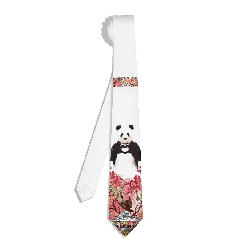 Panda  Necktie Christmas Gift Design Tie With Gift Box Pack Men  Women Boys Girls Casual Party Tie Branded Cotton Ties Suit Ties