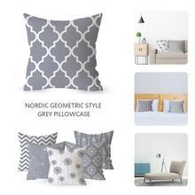 Housse de coussin géométrique 18x18 pouces   Couverture doreiller à imprimé, de style géométrique, pour chambre à coucher et bureau, nouvelle livraison directe