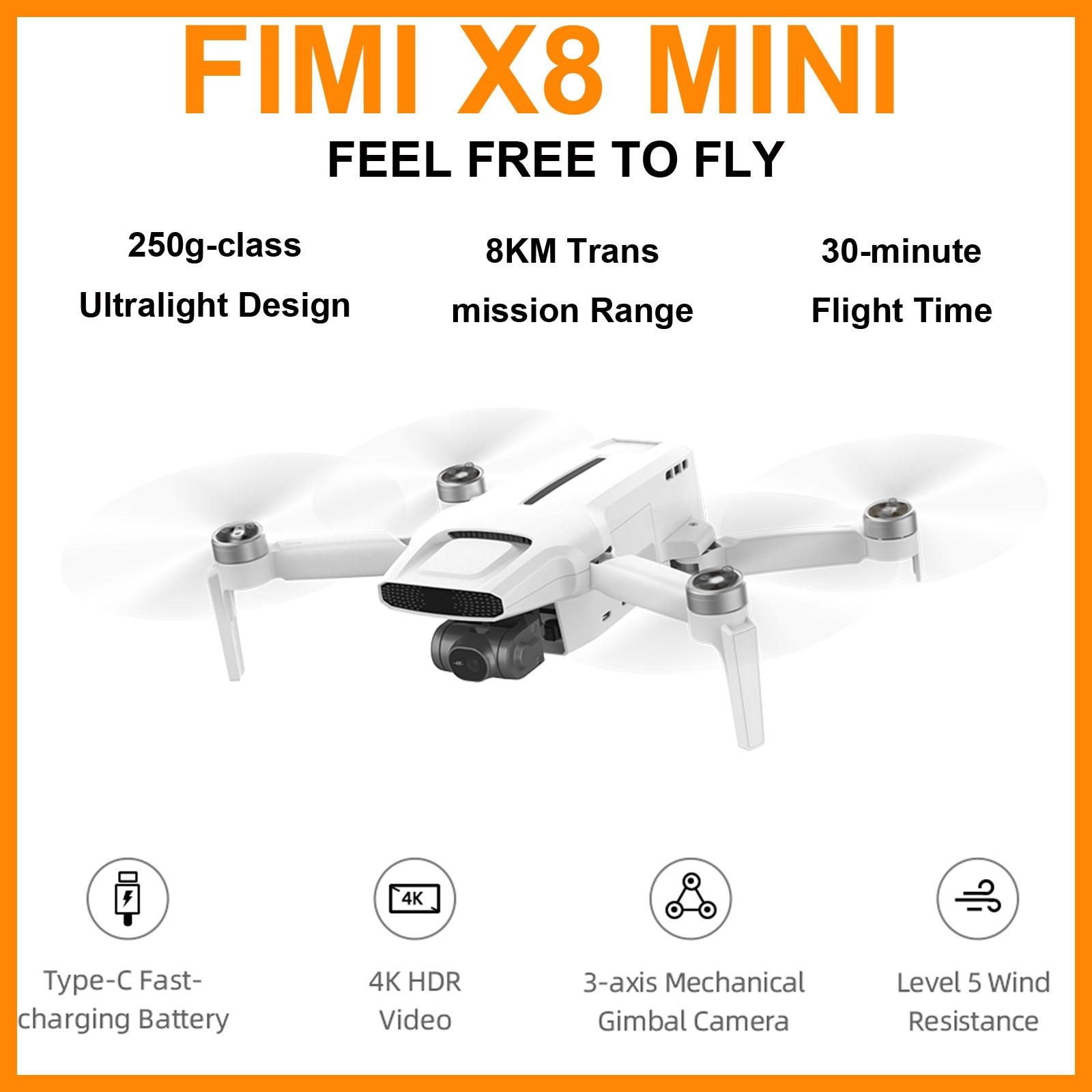 Fimi X8 Mini Camera Drone 250g-class Drone 8km 4k Professional Mini Drone Quadcopter With Camera Gps Remote Control Helicopter#Z