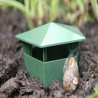 5pcs plastic snail trapper reusable bait station garden pest catch trap safe gardening tools simple to use