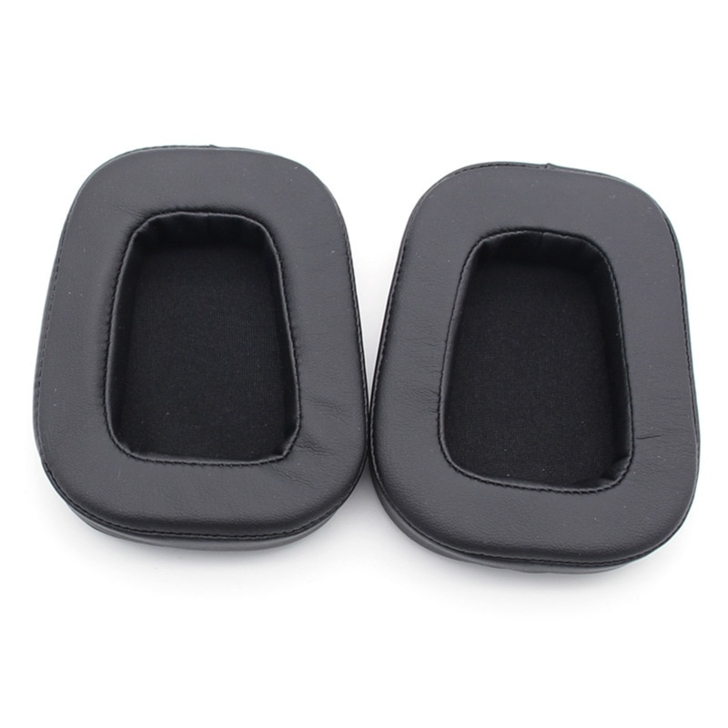 Protein Earmuffs & PK Cloth Cover For Logitech G633 G933 Headphones Replacement Earpad Memory Foam Ear Pads Black Eh#