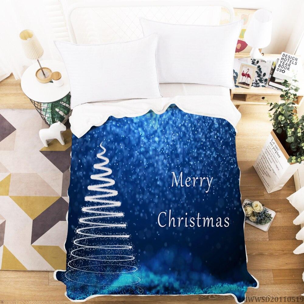 بطانية بتصميم عيد الميلاد المجيد ، بطانية ثلاثية الأبعاد عصرية ، ديكور غرفة نوم ناعم إبداعي ، هدية سرير للأطفال