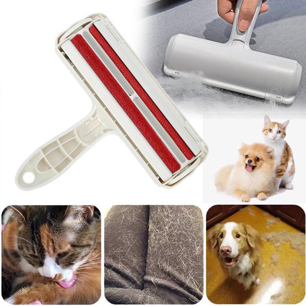 Pet Hair Remover Roller Self-Cleaning Lint One Hand Operate Remover Roller Pet Hair Household Cleani