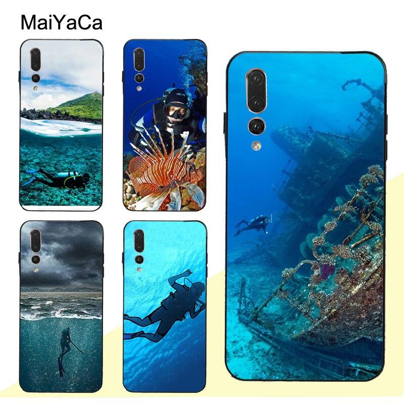 MaiYaCa buzo submarinismo cueva funda para Huawei Honor 7A Pro 7C 10 9 20 Lite 10i 8X 9X 8A 8C 8S Y6 Y9 Y7 2019 Nova 5T