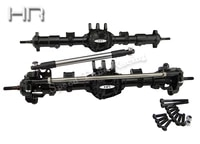 hot racing complete aluminum ar44 straight axle front and rear for the axial scx10 ii rock crawler