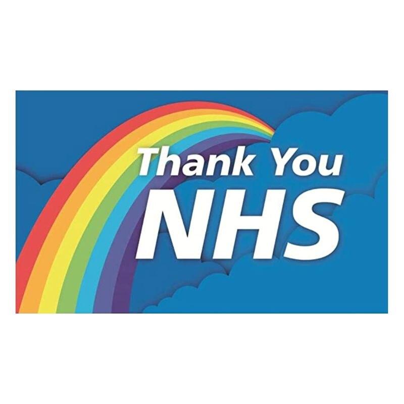 Banderín volador NHS con la bandera británica Hero Health Nurse Doctor Rainbow Decor A0NA