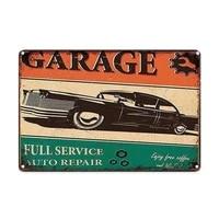 car garage metal vintage home decor tin sign bar pub garage decorative metal sign metal painting plaque