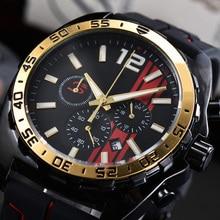 New Fashion Quartz Calendar Mens Watch Casual Waterproof Brand Luxury Watches for Men Rubber Strap C