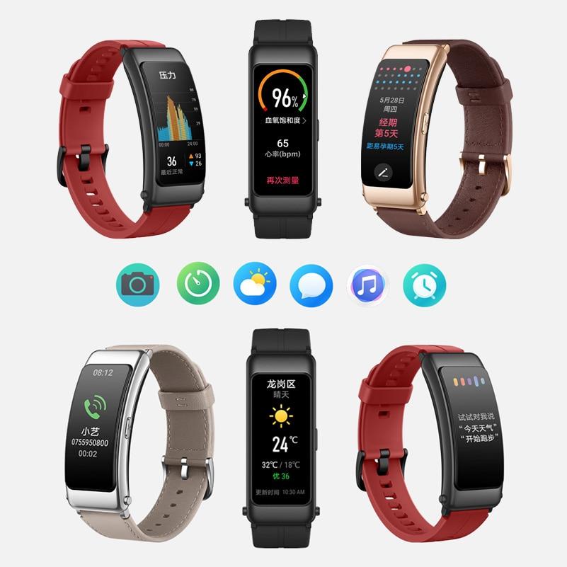 Original Huawei Talkband B6 Smart Wristband | Flexible Color Screen Health Bracelet Wrist Kirin A1 Bluetooth 5.2 Headset | Full