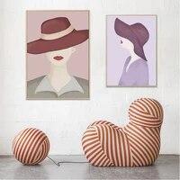 Affiche murale de Style Morandi pour fille  peinture sur toile minimaliste  Style nordique  decoration de maison