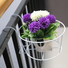 Maison fer Art orchidée porte-fleurs balcon garde-corps suspendu Jardiniere support Pot plateau nordique jardin panier cadre plante fleur étagère