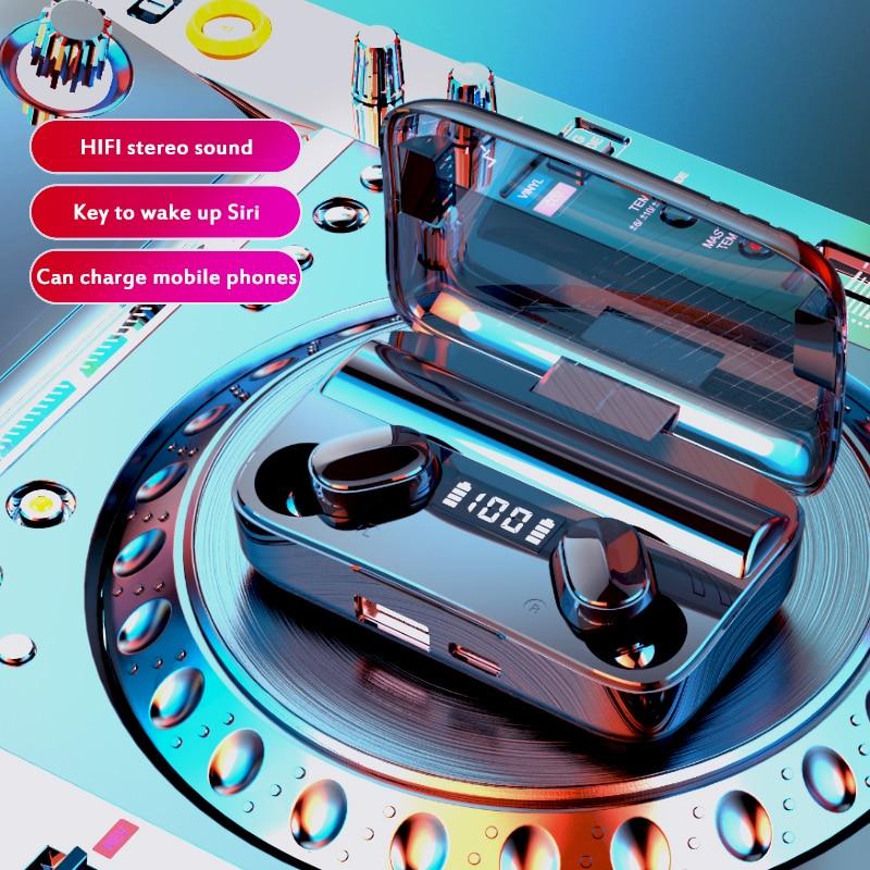 Auriculares con Bluetooth 5,0 y luz de respiración, auriculares internos estéreo para deporte, auriculares Dropshipping