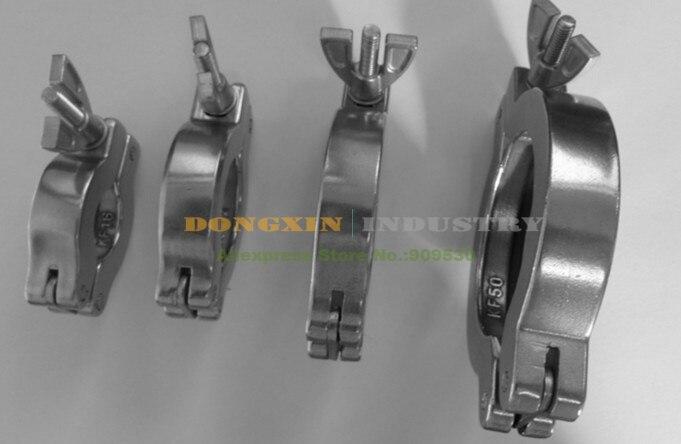 Abrazadera de acero inoxidable 304 KF16 para bomba de vacío y otro adaptador de vacío