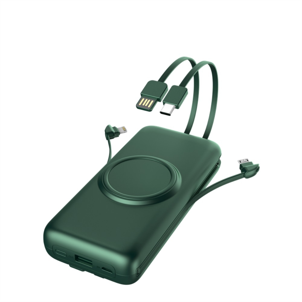 20000mAh بنك الطاقة اللاسلكي بطارية خارجية في الهواء الطلق سعة كبيرة Powerbank العرض الرقمي USB حزمة مع الكابلات ل شاومي