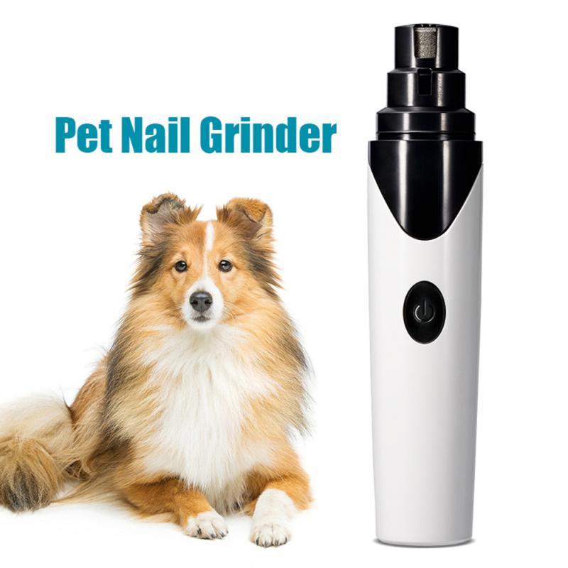 Usb recarregável cão moedores de unhas profissional elétrica cão gato cortador de unhas mudo indolor pet pata unha grooming ferramenta