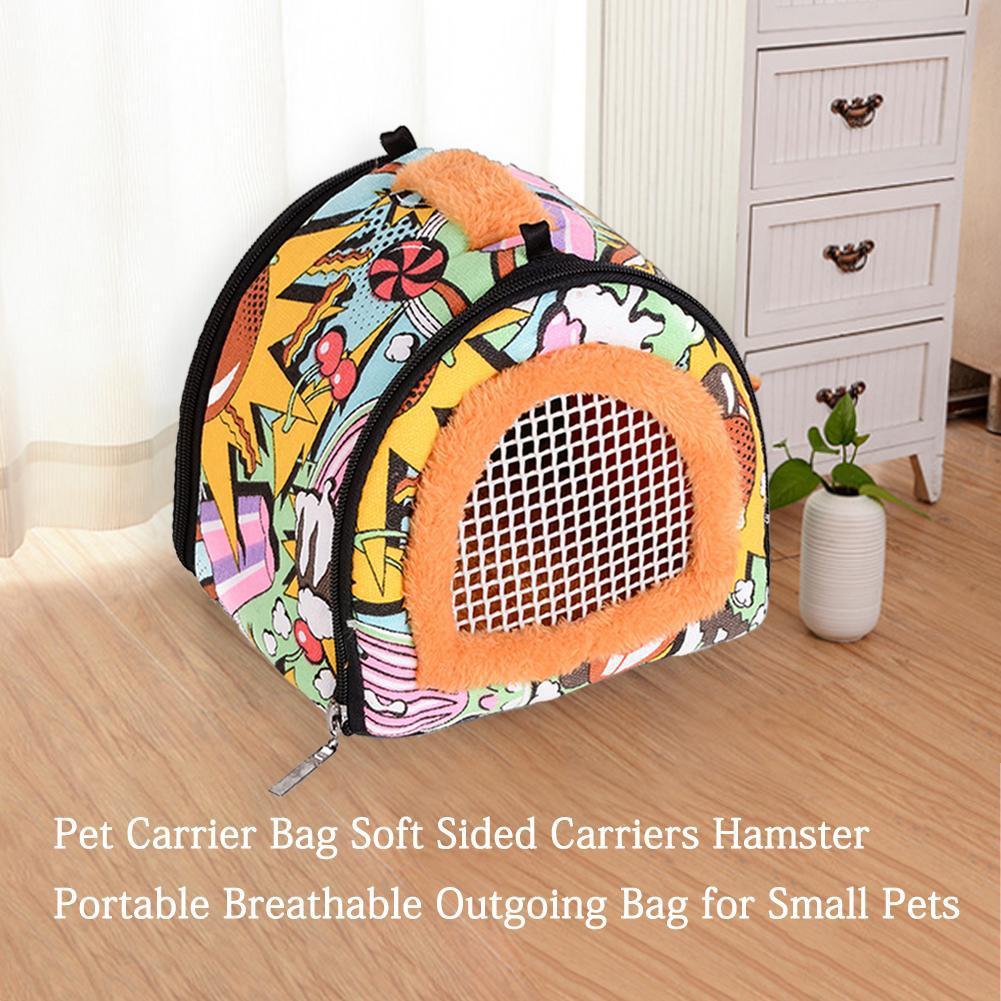 Pequeña mochila portátil para transportar mascotas al aire libre, bolsa de viaje de protección de seguridad para hámster, topos, cerdo holandés, erizo, ardilla, conejillo de indias