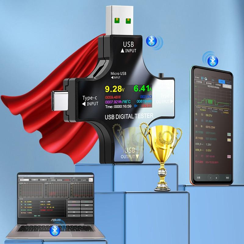 USB3.1 tester 32V 6.5A Type-C Digital voltmeter amperimetor voltage current meter ammeter detector power bank charger indicator