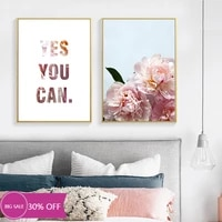 Toile de decoration de noel  affiches de peinture  fleur de pivoine rose  tableau dart mural pour decoration de salon  decoration de maison