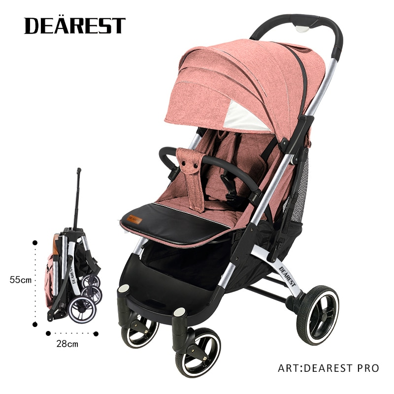 Dearest Pro New Baby Stroller One-key Collection Breathable Sunroof Suitable For Walking And Travel